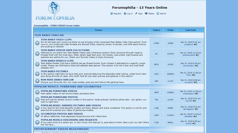 forumophilia, Forumophilia