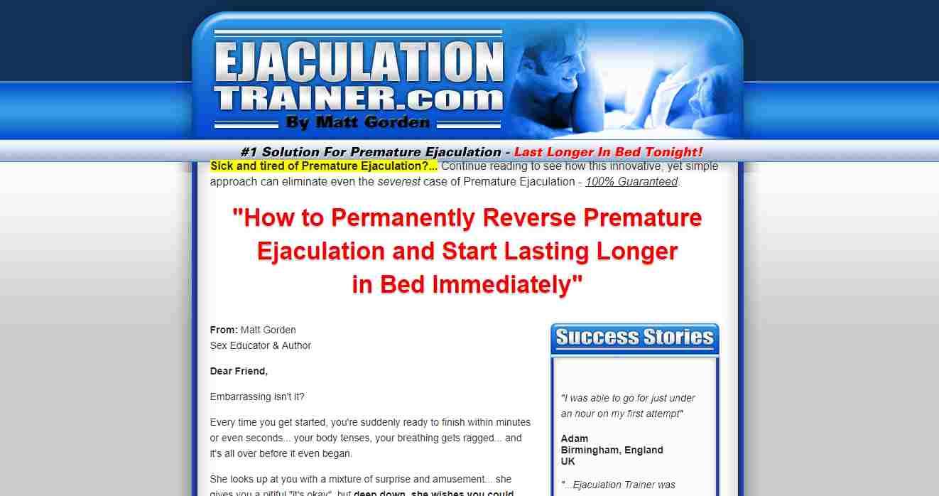 ejaculation trainer, Ejaculation Trainer