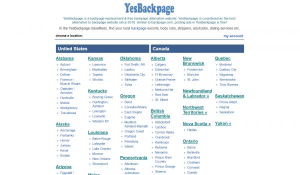 yesbackpage, YesBackpage